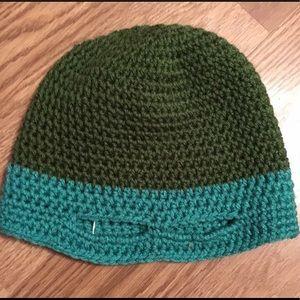 Other - Handmade teal ninja turtle crochet hat!